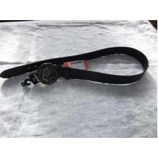 Černý kožený pásek Harley Davidson, šířka 35 mm+přezka s lebkou