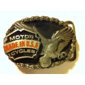 Motorkářská Harley přezka na pásek orel Motor Cycles Made in USA
