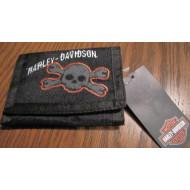 Textilní peněženka lebka Harley Davidson 9A5042-023