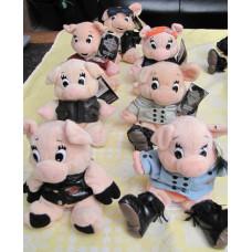 Harley Davidson plush toy pigs