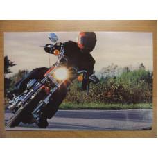 80's Harley Davidson Sportster retro Postcard
