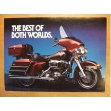 1982 Harley Davidson Electra Glide retro Postcard The best of both Worlds