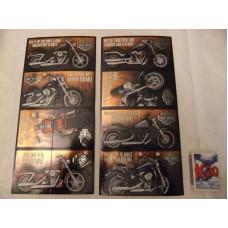 Harley Davidson Happy Valentine's Day 4pcs per set