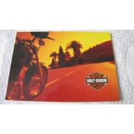 Pohled Harley Davidson letní jízda