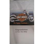 Harley Davidson Newborn Gratulation Letter