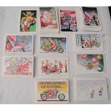 Harley Davidson Christmas Wishes Postcard