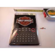 Harley-Davidson plechová pohlednice kalendář
