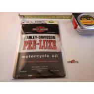 Harley-Davidson plechová pohlednice Pre-Luxe