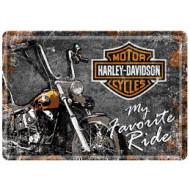 Harley-Davidson plechová pohlednice My Favorite Ride