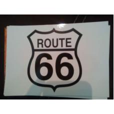 Route 66 pohlednice bílá