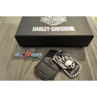 HDMNK10146 Harley-Davidson Mens Immunity Flaming Willie G Skull Pendant