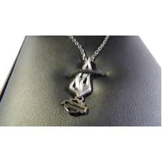 Harley Davidson Womens 925 Silver Eternal Flame Logo necklace