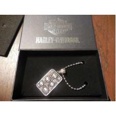 Dámský přívěšek a řetízek Harley Davidson lebky s krystaly
