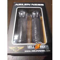 """Černé gripy Arlen Ness pro Harley-Davidson 1"""" pro elektronický plyn"""