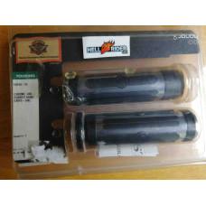 Chrome Rubber Grips  for Harley-Davidson, SML, 56246-08