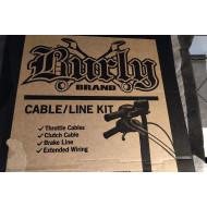 """Kompletní sada prodloužená lanka a kabely pro vysoká řídítka 18"""" Harley Softail 2000-05"""