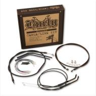 Kompletní sada prodloužená lanka a kabely pro vysoká řídítka Harley Dyna