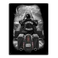 Motorkářská plechová cedule Ride or Die - Stairway to Heaven 30x40cm
