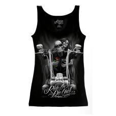 Biker Ride or Die Women's tank top Shirt - My old Lady
