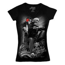 Biker Ride or Die Women's V-neck Shirt - Biker Babe