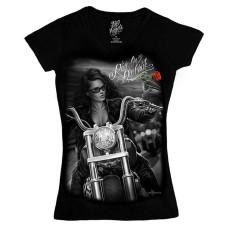 Biker Ride or Die Women's V-neck Shirt - Lady Rider