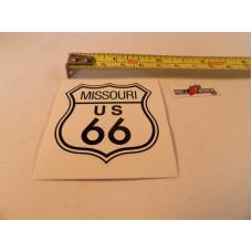 Bílá samolepka Route 66 logo šířka 9cm Missouri