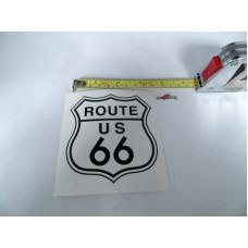 Bílá samolepka Route 66 logo šířka 9cm