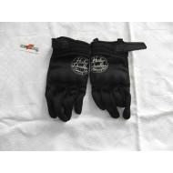 Harley Davidson dámské černé látkové rukavice Harley Davidson, velikost L = č. 8