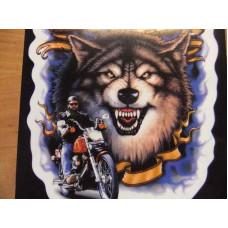Biker The Legend Rolls on Transparent Wolf Decal D2473