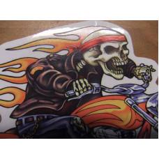 Biker Hell Rider Skull Decal