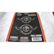 Harley Davidson lebka s křídly samolepka - 2x 12x6,5cm