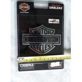 Harley-Davidson 3D emblém Harley Bar&Shield chromové logo 12x17cm