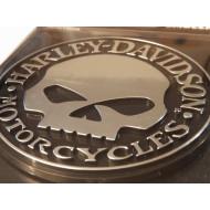 Harley-Davidson Willie G Skull Injection Molded decal emblem 9113