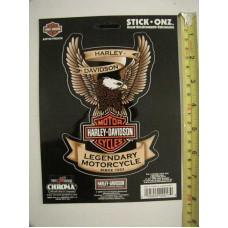 "Harley Davidson Legendary Motorcycle Eagle Logo Emblem Decal Car Window Sticker 4x6"""