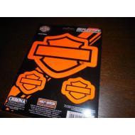 """CG28000 - Harley-Davidson Blank B&S Logo Reflective Decal 6x8"""""""