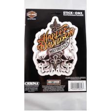 CG9656 - Harley-Davidson Skulls Stick Onz Decal