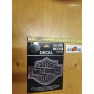 Harley-Davidson Bar & Shield Chrome Medium Decal, 3-15/16