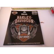 "Harley-Davidson Handlebars Ultra Decal, Chrome Medium Size 6 x 5.9"""