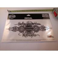 Harley Davidson samolepka Bar & Shield Design, stříbrný efekt, 20 x 9 cm