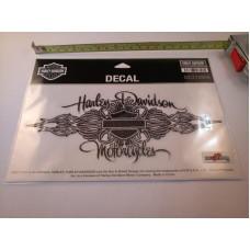 """Harley Davidson samolepka Silver Signature Glitter Decal, 8"""" x 3,5"""""""