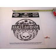 "Harley-Davidson Winged Willie G Skull Decal, Medium, diameter 5,1"""