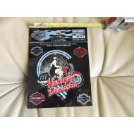 "Sticker Harley-Davidson, 3 Pc, DC861812, 4,4"" x 4,8"" - 1 Pc + 1,6"" x 1"" - 2 Pc"