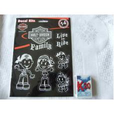 Harley Davidson Family Sticker - 14pcs #5390