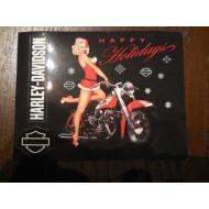 Harley Davidson pohled - samolepka Happy Holidays