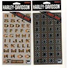 Harley Davidson alphabet Decal