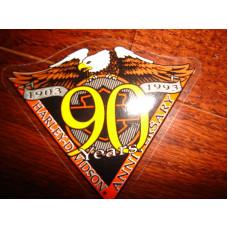 Harley Davidson inside decal  - 90th HD Anniversary