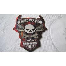 Harley Davidson Skull Decal #4