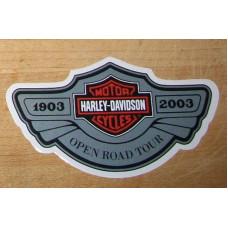 Malá samolepka Harley Davidson 100. výročí Road Tour