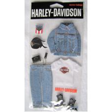 Harley Davidson samolepky oblečení (8ks) HDJB03