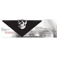 Motorkářský reflexní šátek s lebkou - ochrana obličeje Skull